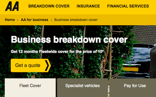 AA Business Cover