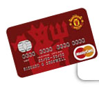Manchester UTD football club credit card